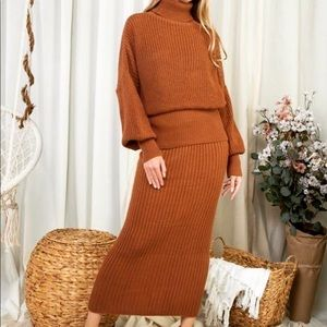 Snuggle with me Sweater Skirt Set